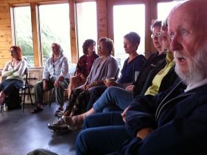 A vocal workshop at PFF 2011, led by Curtis Dreidger